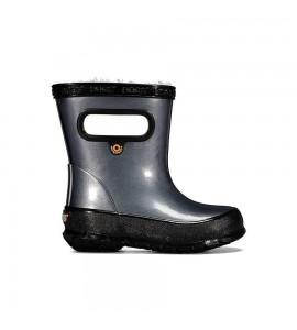 Bogs Insulated Metallic Rain Kids Steel