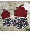 Costum de baie in 2 piese cu imprimeu floral Mommy and Me