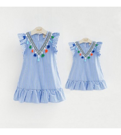 Rochie cu canafi din bumbac Mommy and Me